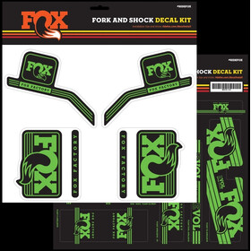 Fox Racing Shox Decal 2016 AM Kit d'autocollants pour fourche et amortisseur Heritage, green